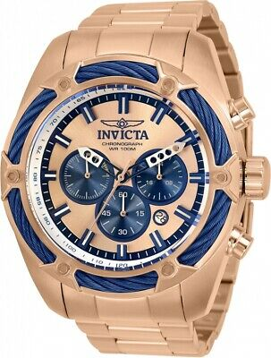 Invicta Bolt Chronograph Quartz Rose Gold Dial Men's Watch 31445