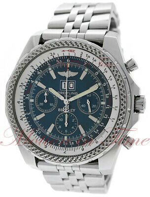 Breitling Bentley 6.75, Neptune Blue Dial - Steel on Bracelet, Ref # A44362