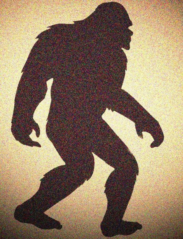 Bigfoot Sasquatch Yeti Stencil Mylar Big Foot Stencils