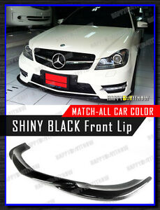 PAINTED BLACK 11+ Mercedes Benz W204 AMG PACKAGE GH TYPE FRONT LIP SPLITTER FRP
