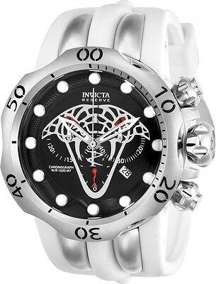 @NEW Invicta Reserve Venom Viper Silver Tone Chronograph Quartz Watch 24065