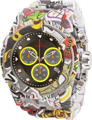 Invicta 52mm Bolt Zeus Graffiti Swiss Chrono Hydroplated Bracelet Watch 31622