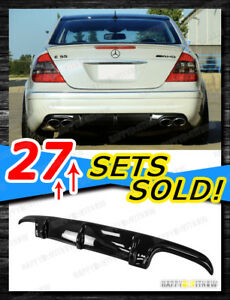 03-06 PAINTED GLOSS BLACK MERCEDES BENZ W211 E55 AMG ADD ON DIFFUSER