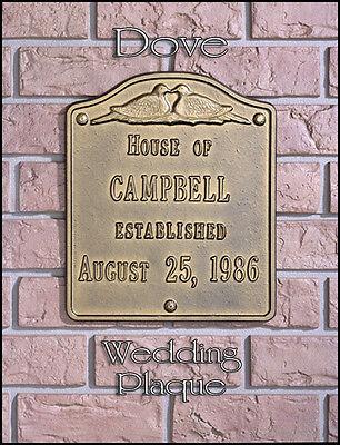 Wedding Anniversary Colors (Whitehall Dove Wedding-Anniversary Plaque Sign  Choose from 17 Colors Rust)