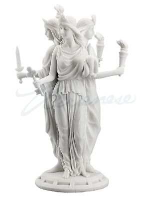 Hecate White Finish Sculpture Greek Goddess of Magic and Witchcraft Statue