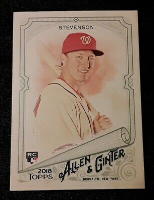 ⚾️2018 allen & ginter ANDREW STEVENSON (rookie) baseball card #257⚾️ *Nationals*
