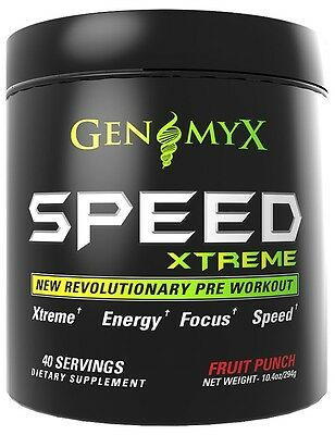 (Genomyx Speed Xtreme Fruit Punch - Extreme Energy, Focus, & Speed (40 Servings))