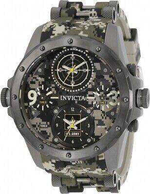 Invicta Men's US Army Chronograph Titanium Camouflage Silicone 50mm Watch 31967