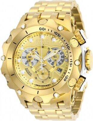 Invicta Reserve Men's 52mm Venom Hybrid Swiss Quartz Chronograph Bracelet Watch