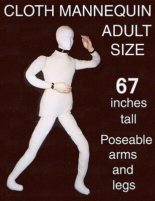 Poseable Bendable Heavy Canvas Display Mannequin Dummy Deluxe Prop Doll DD180718