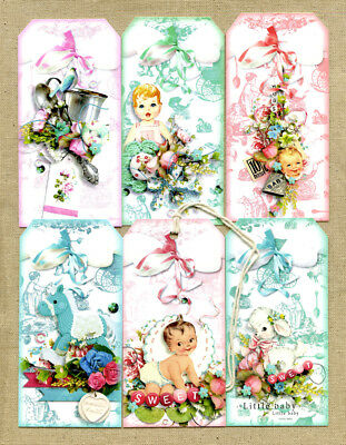 Hang Tags  NEW BABY GIRL BABY BOY SHOWER MIXED TAGS #T 37 Gift - Baby Shower Hang Tags