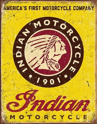 "Tin Signs TSN1934 Decorative Sign 'Indian Since 1901' Size 16"" x 12.5"""