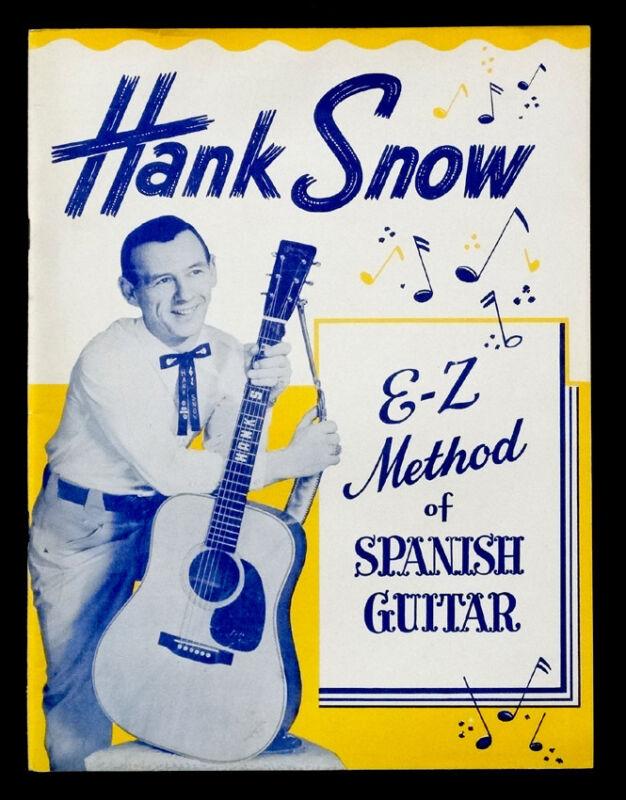 1958 Vintage HANK SNOW How to Play SPANISH GUITAR Instruction Book / Photo Album