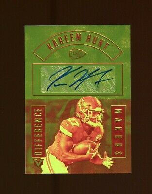 2017 Vertex Difference Makers Kareem Hunt RC AUTO #/199 MINT OR
