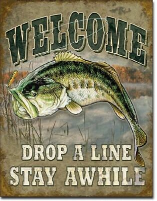 Metal Tin Signs Kitchen Funny Welcome Ugly Fish Art Home Wall Mounted Posters