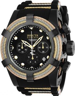 23054 Invicta Reserve Swiss Quartz Bolt Zeus TriCable 52mm Silicone Strap Watch
