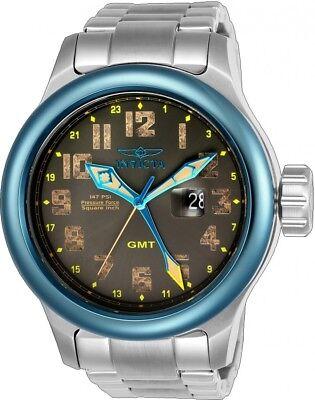 New Invicta Men's 54mm Russian Aviator Quartz GMT SS Watch (BNIB + Box + Papers)