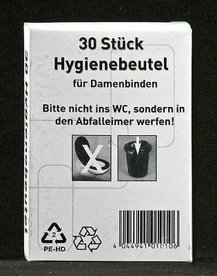 Hygienebeutel Damenhygiene Hygienetüten Box weiß 3 x 30 = 90 Stück