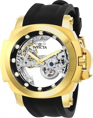 New Invicta Man of War Coalition Forces Ghost Bridge Automatic Gold Plated Watch