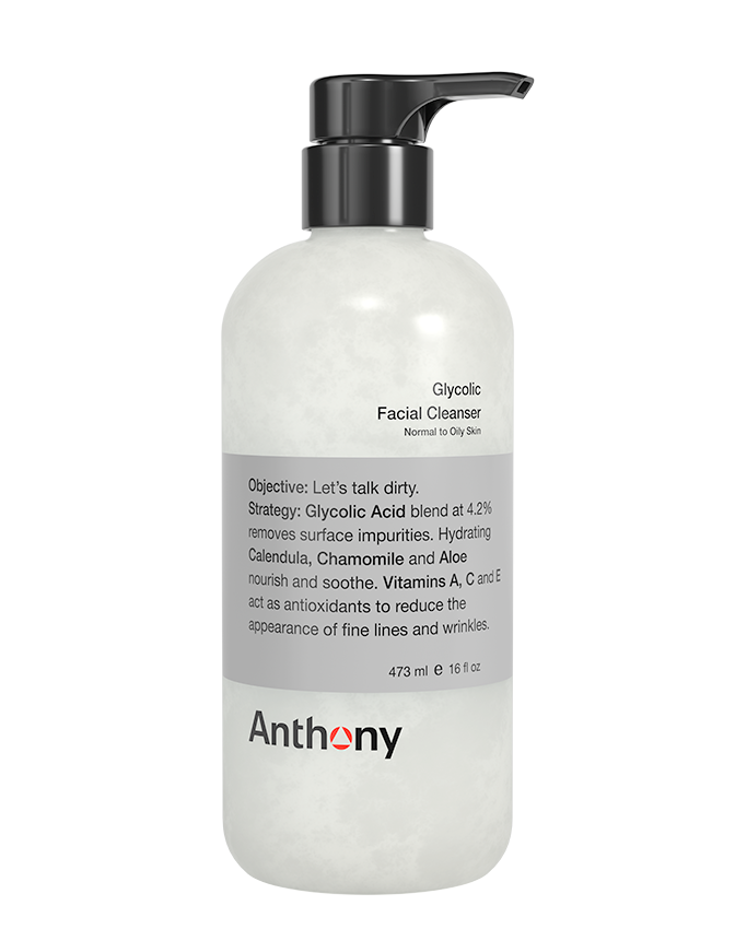 Anthony Glycolic Facial Cleanser With Dispensing Pump, Size