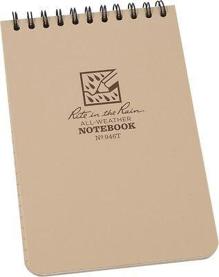 Rite In The Rain Tactical Pocket Notebook Tan 4x6 946t All Weather