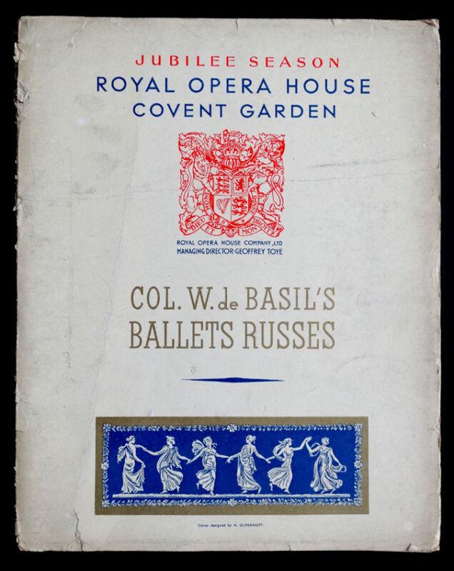 Vintage 1935 Season BALLET RUSSE DE MONTE CARLO Tour Program / BAKST MIRO DUFY