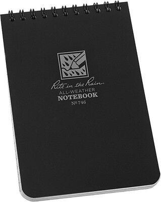 Rite In The Rain Top Spiral Notebook Black 746
