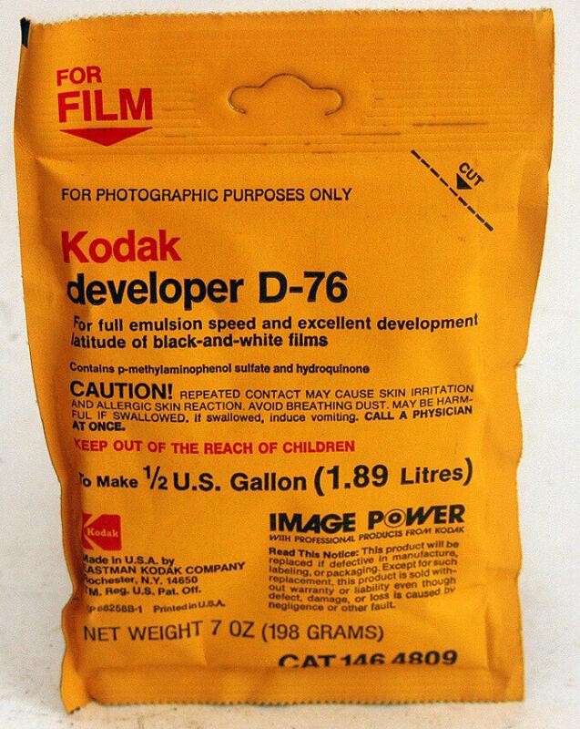KODAK D76 B&W Film Developer - ½ Gallon