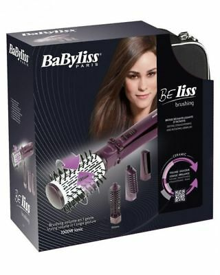 Rotating Brush 4 Attachments 1000W Genuine New Babyliss 2736E Beliss Brushing