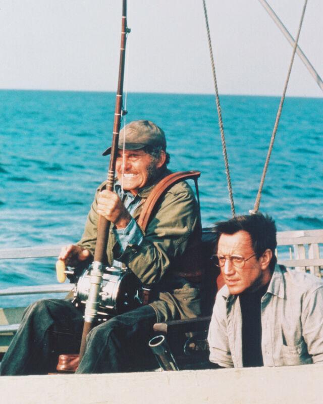 JAWS COLOR 8X10 PHOTO ROBERT SHAW ROY SCHEIDER