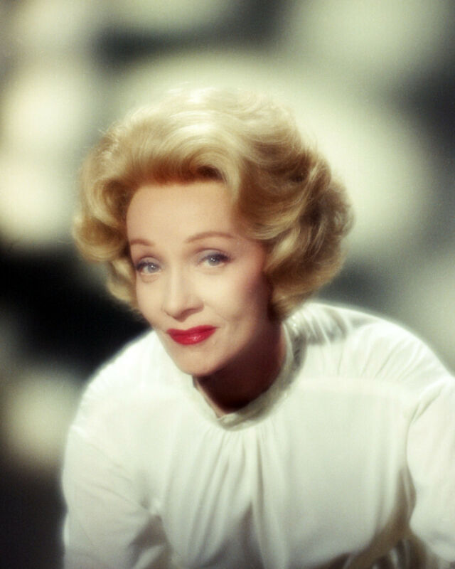 Marlene Dietrich Misty Studio Portrait Later Years 8x10 Photo