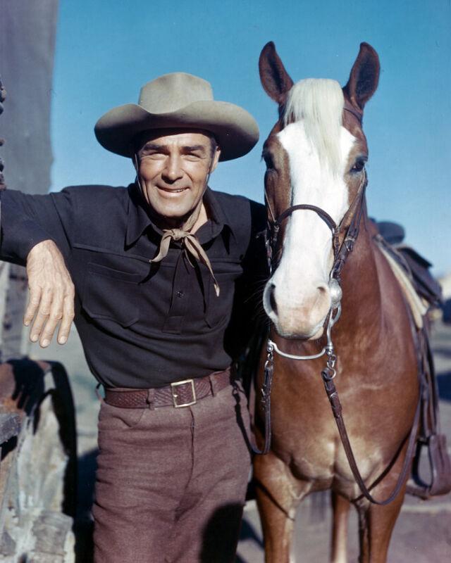 Randolph Scott Western With Horse 8x10 Photo