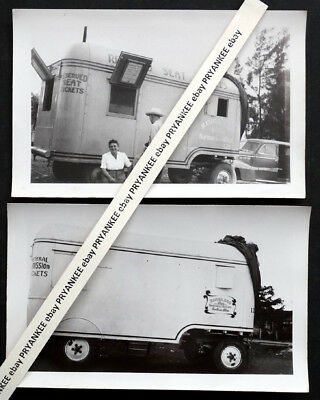 1940's Vintage RINGLING BROTHERS BARNUM BAILEY CIRCUS Photo TICKET BOOTH TRAILER