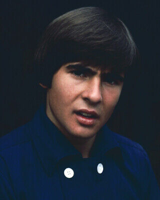THE MONKEES DAVY JONES BLUE SHIRT WHITE BUTTONS 60'S PIN-UP 8X10 PHOTO