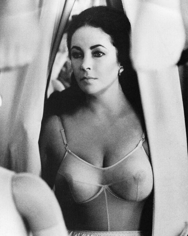 Elizabeth Taylor Reflections In A Golden Eye See Through Bra Busty 8x10 Photo