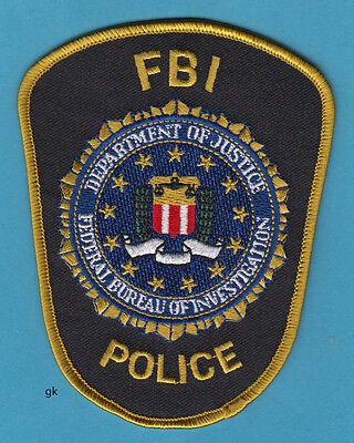 FBI POLICE DEPARTMENT OF JUSTICE SHOULDER PATCH ( Blue variation)