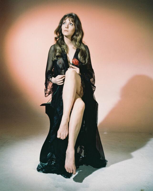 The Vampire Lovers Ingrid Pitt Sexy Leggy Negligee Color Photo 8x10 Photo