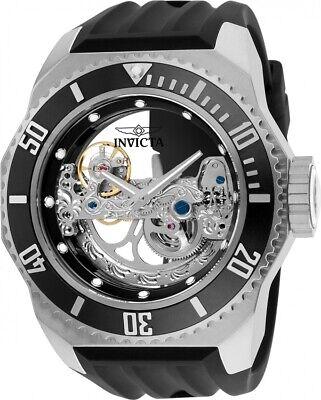 New Mens Invicta 25610 Russian Diver AUTOMATIC 52mm Black Rubber Strap Watch