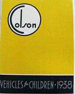 classic bicycle 1938 Colson VEHICLES FOR CHILDREN catalog of ANTIQUE BIKES](Children Catalogs)