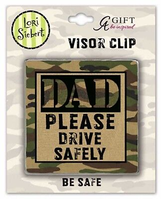 Dad Drive Safely Camo Visor Clip (SIEB106) NEW Carded