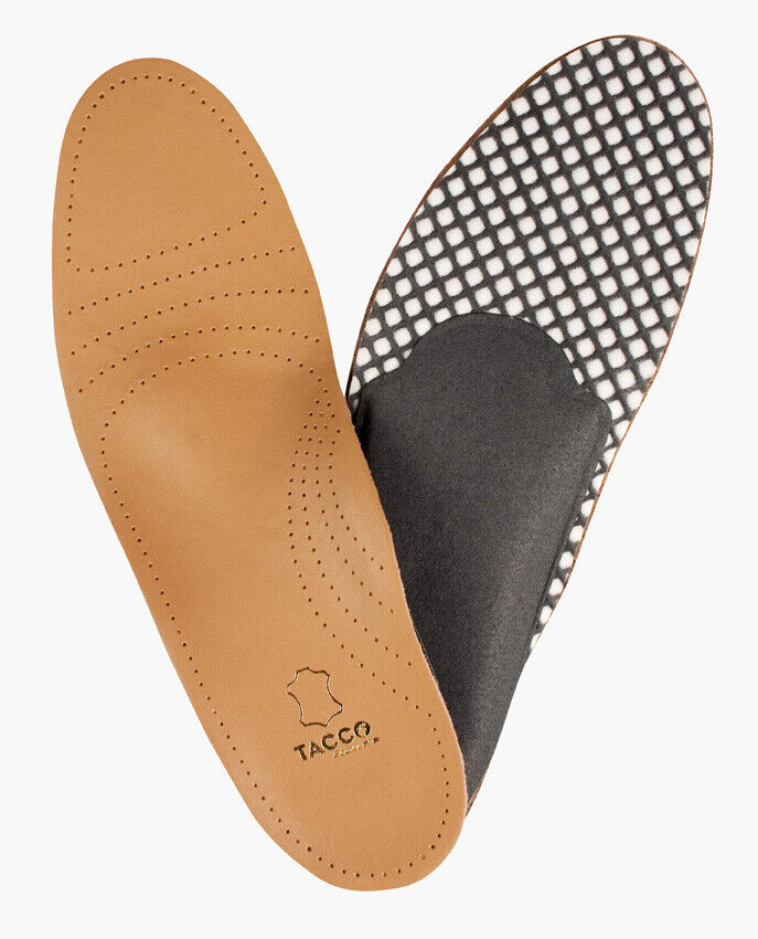 TACCO 694-8 DELUXE Orthotic Full Leather Insoles Arch Suppor