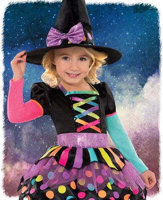 ★ Amscan Neon Hexe Hexenkleid Kinderkostüm,kostüm 80-140 Kinder Witch (Neon Kinder Kostüm)