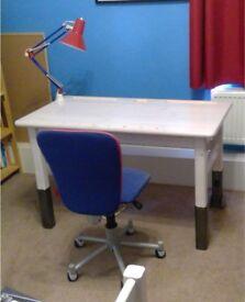 Children's Flexa desk chair and light