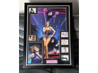 Large Kylie Minogue Framed Signed Display Certificate Authentic, Reduced for quick sale