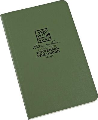 Rite In The Rain Field Flex Bound Notebook 64 Sheets Green 4.62 X 7.25