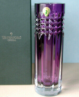 Amethyst Bud Vase (Waterford Fleurology TINA Amethyst Bud Vase Cylinder 9