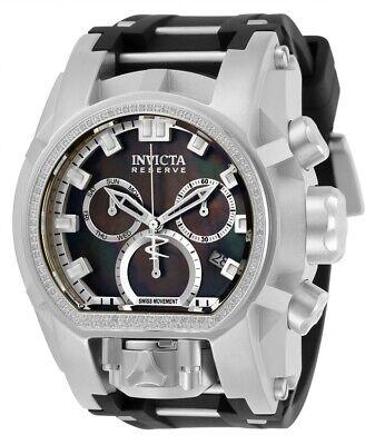 Invicta Reserve Bolt Zeus Magnum MOP Swiss Chrono .43ctw Diamond Watch 31836
