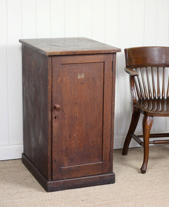 Vintage Antique Rustic Wooden Pitch Pine Cupboard Cabinet