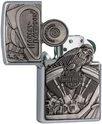Zippo Harley-Davidson Motor Flag Emblem Street Chrome Pocket