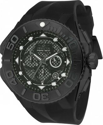 New Mens Invicta 23963 Coalition Forces Chronograph Black Dial Rubber Watch